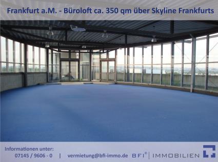 ++ Büroloft mit Blick auf Skyline von Frankfurt ++